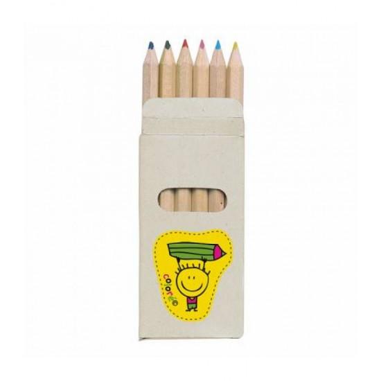 Creioane colorate, 6 buc Karina