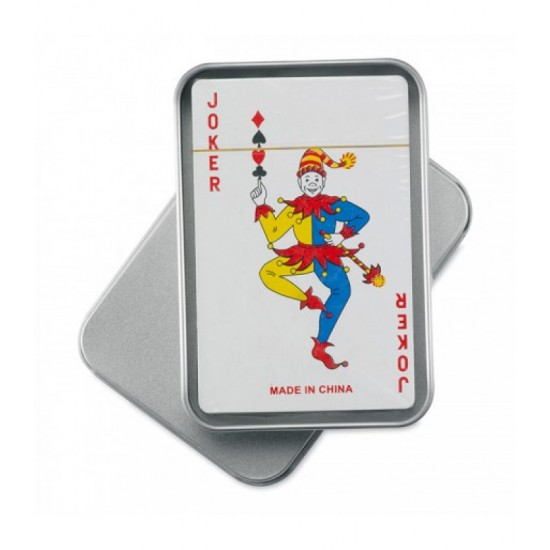 Carti de joc in cutie metalica Joy