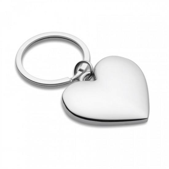 Breloc metalic forma de inima Oro