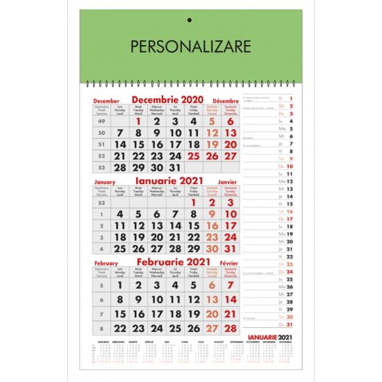 Calendar de perete triptic planner