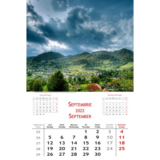 Calendar Romania 2022