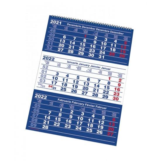 Calendar triptic cu spirala - Classic