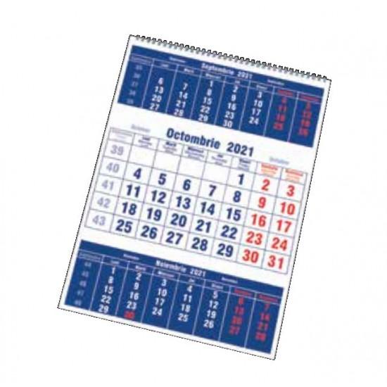 Calendar triptic drept cu spirala - Focus