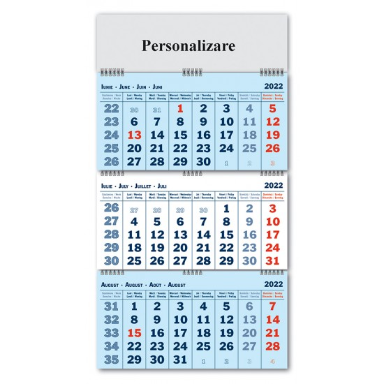 Calendar Triptic pliabil 2022