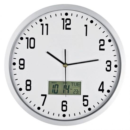 Ceas de perete cu termometru CrisMa