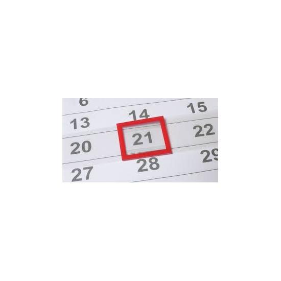 Cursor calendar triptic