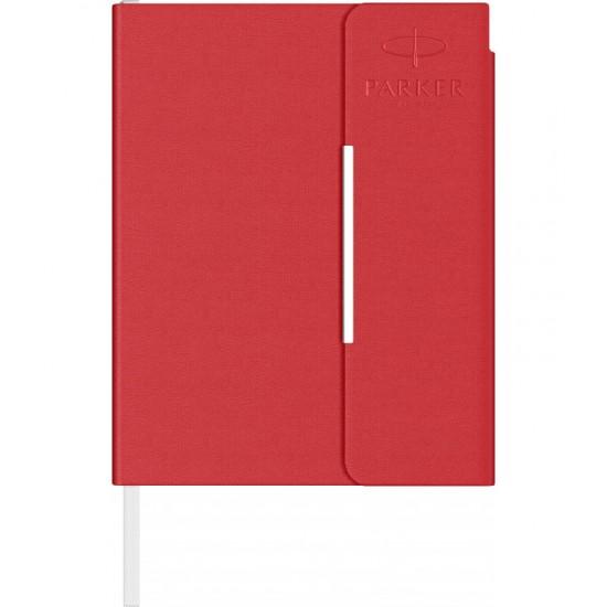 Notes B6 tip mapa inscriptionata Parker red