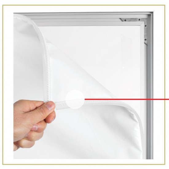Rama aluminiu 17 mm pentru print textil