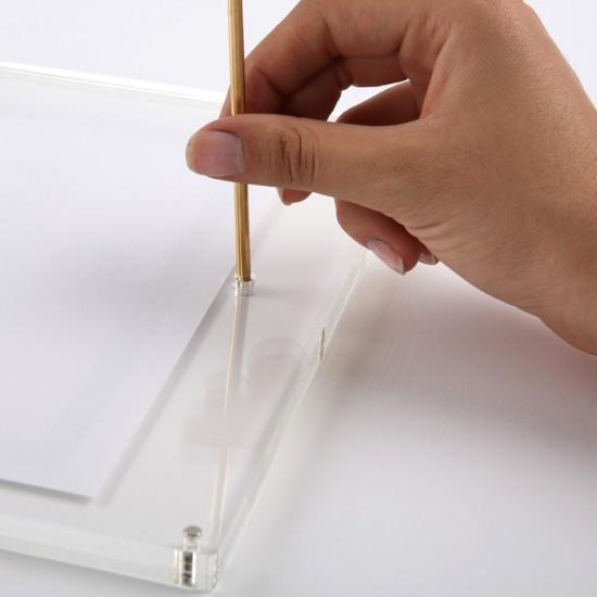 Rama plexiglas tip L